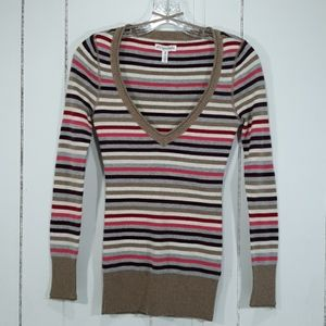 Aeropostale Striped Fitted Sweater